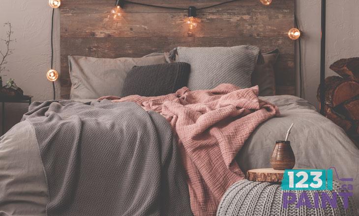 Cozy Pastel Colours in Bedroom